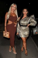 AMBER TURNER and CHLOE BROCKETT at The Only Way is Essex Press Night in Bournemouth 08/28/2021