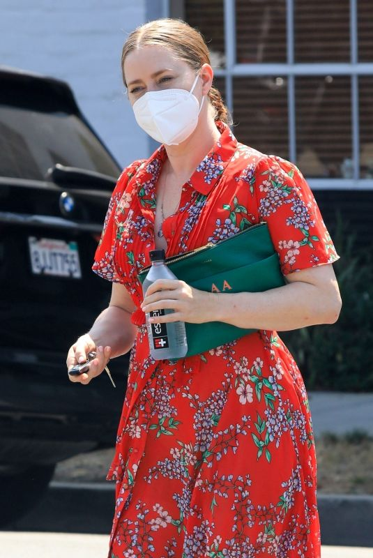 AMY ADAMS Out in Beverly Hills 08/12/2021