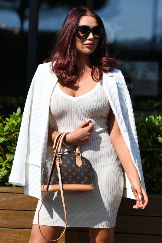AMY CHILDS on the Set of The Only Way is Essex 08/25/2021