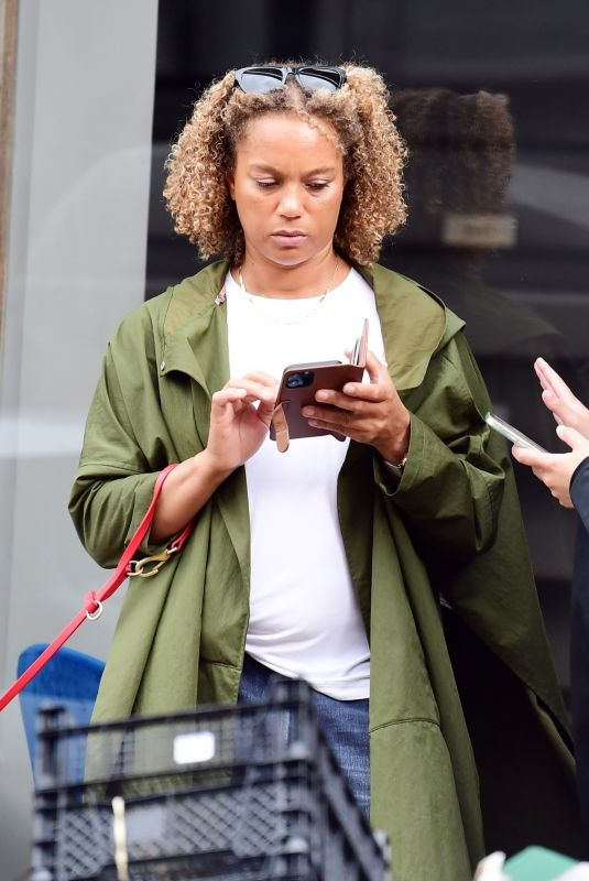 ANGELA GRIFFIN Out in Hampstead 08/22/2021