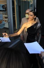 ANGELA SARAFYAN Signs Autographs for Fans in Hollywood 08/18/2021