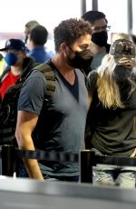 ANNA FARIS at LAX Airport in Los Angeles 08/22/2021