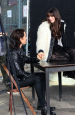 ANNE HATHAWAY on the Set of Wecrashed in Brooklyn 08/02/2021
