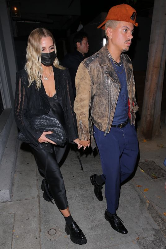 ASHLEE SIMPSON and Evan Ross at Craig's in West Hollywood 08/13/2021