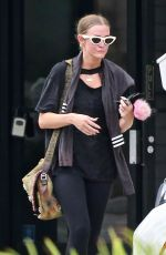 ASHLEE SIMPSON at a Gym in Studio City 08/21/2021
