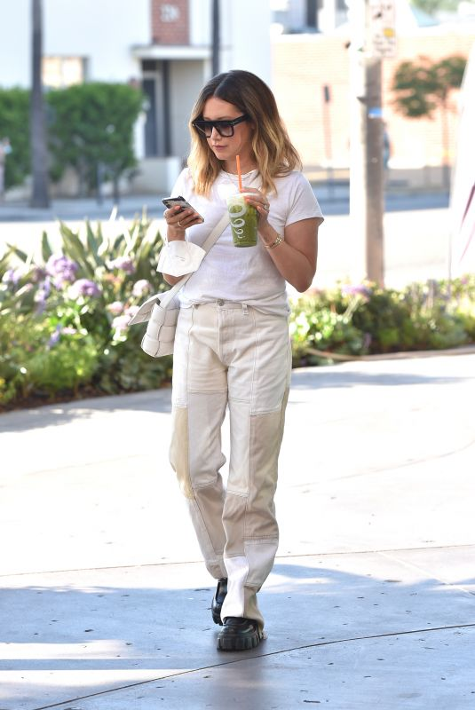 ASHLEY TISDALE at Gotcha Matcha Iced Beverage in Los Angeles 08/09/2021
