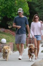 AUBREY PLAZA and Jeff Baena Out with Their Dogs in Los Feliz 08/22/2021
