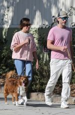 AUBREY PLAZA and Jeff Baena Out with Their Dogs in Los Feliz 08/26/2021
