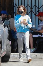 AUBREY PLAZA Out for a Fresh Juice in Los Feliz 08/01/2021