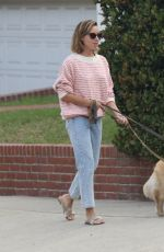 AUBREY PLAZA Out with Her Dogs in Los Feliz 08/24/2021