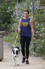 AVA PHILLIPPE Out with her Dog in Santa Monica 08/04/2021