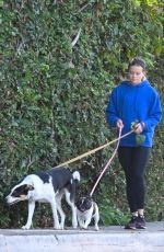 AVA PHILLIPPE Out with Her Dogs in Los Angeles 07/30/2021