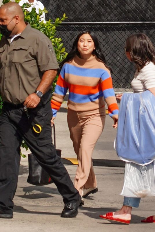 AWKWAFINA Arrives at Jimmy Kimmel Live! in Hollywood  08/18/2021