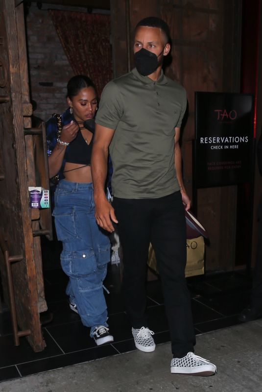 AYESHA CURRY Leaves TAO in Los Angeles 08/04/2021