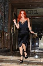 BELLA THORNE Leaves Le Petite Emeritage Hotel in West Hollywood 08/28/2021