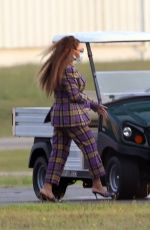 BEYONCE Arrives at a Heliport in The Hamptons 08/17/2021