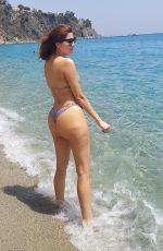 BLANCA BLANCO in Bikini at a Bbeach in Cantazaro 07/31/2021
