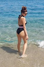 BLANCA BLANCO in Swimsuit at a Beach in Sicily 08/22/2021
