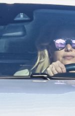 BRITNEY SPEARS and Sam Asghari Out Driving in Los Angeles 08/17/2021