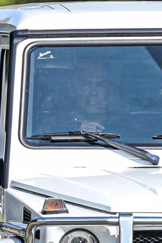 BRITNEY SPEARS Out Driving in Calabasas 08/21/2021