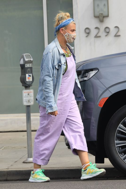 BUSY PHILIPPS at Her Stylist's Office in Beverly Hills 08/18/2021