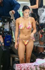 CAMILA MENDES in Bikini on the Set of Strangers in Miami Beach 08/02/2021