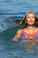 CAPRICE BOURRET in Bikini at a Beach in Ibiza 08/23/2021