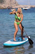CAPRICE BOURRET in Swimsuit Paddleboarding in Ibiza 08/13/2021