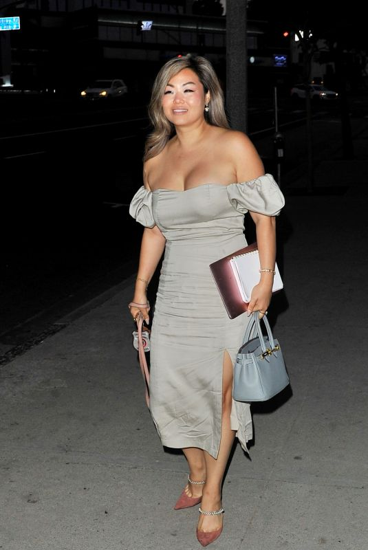CAROLINE CHOI at BOA Steakhouse in West Hollywood 08/25/2021