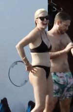 CHARLIZE THERON in Bikini at a Yacht at Aegean Sea 08/03/2021