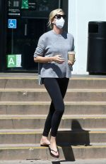 CHARLIZE THERON Out for Iced Coffee in West Hollywood 08/27/2021