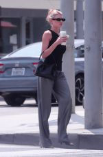 CHARLOTTE MCKINNEY Out for Coffee in Beverly Hills 08/23/2021