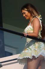 CHLOE FERRY at a Balcony of Her Hotel Room in Ibiza 08/04/2021