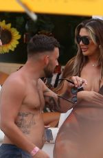 CHLOE FERRY in Bikini at a Beach Club in Ibiza 08/02/2021