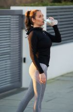 CHLOE GOODMAN Out Jogging in Hove 08/25/2021