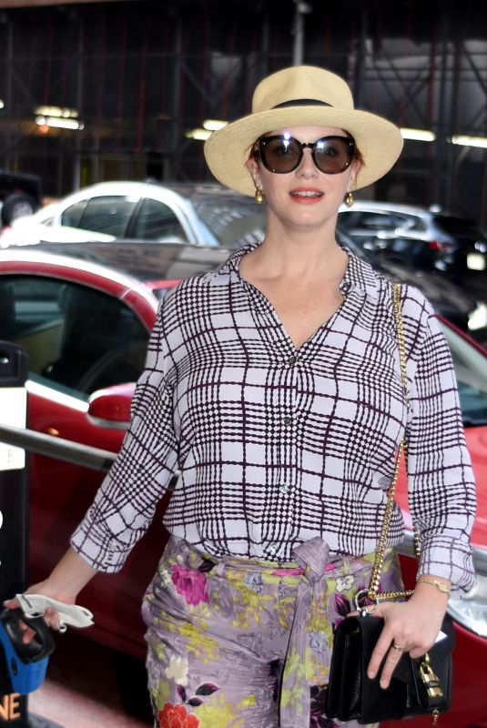 CHRISTINA HENDRICKS Out and About in New York 08/01/2021