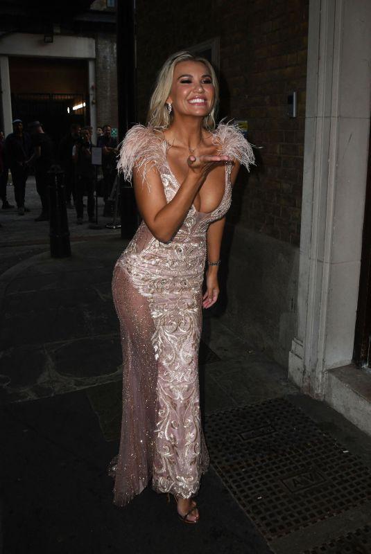 CHRISTINE MCGUINNESS Leaves LGBT Awards in London 08/27/2021