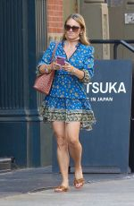 CHRISTINE TAYLOR Out in New York 08/25/2021