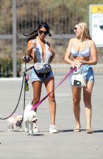 CJ FRANCO and VICTORIA LARSON Out at a Beach in Santa Monica 08/04/2021