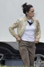 DAISY RIDLEY on the Set of The Marsh King