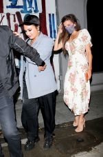 DEMI LOVATO at Craig;s in West Hollywood 08/14/2021