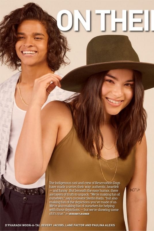 DEVERY JACOBS and PAULINA ALEXIS in Emmy Magazine, August 2021