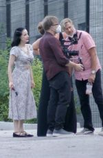 DITA VON TEESE Filming a Project at Griffith Park in Los Feliz 08/23/2021