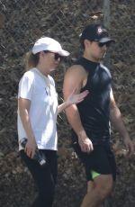 ELLEN POMPEO and Chris Ivery Hikinig at Griffith Park in Los Feliz 08/27/2021