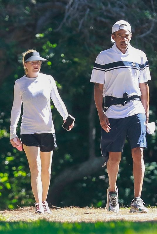 ELLEN POMPEO and Chris Out Hiking at Griffith Park in Los Feliz 08/02/2021