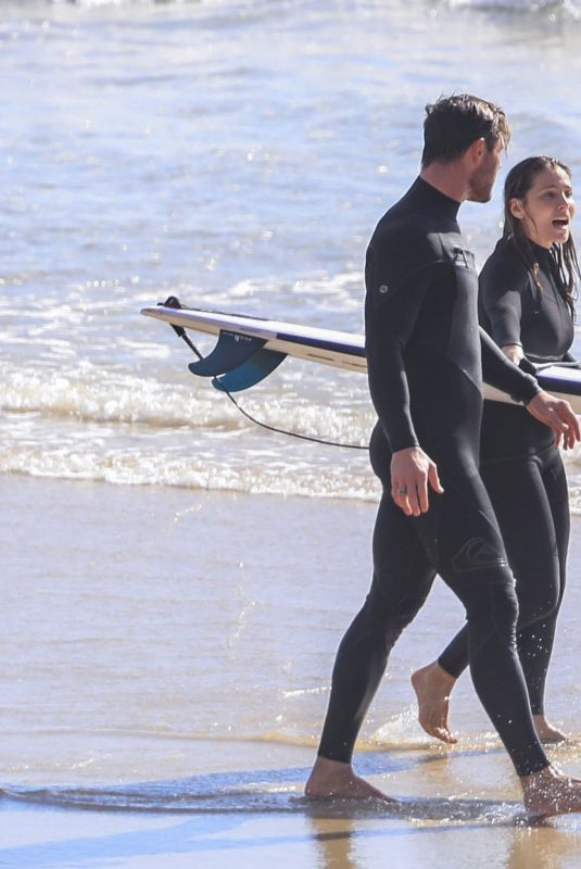 ELSA PATAKY and Chris Hemsworth Out Surfing in New South Wales 08/25/2021