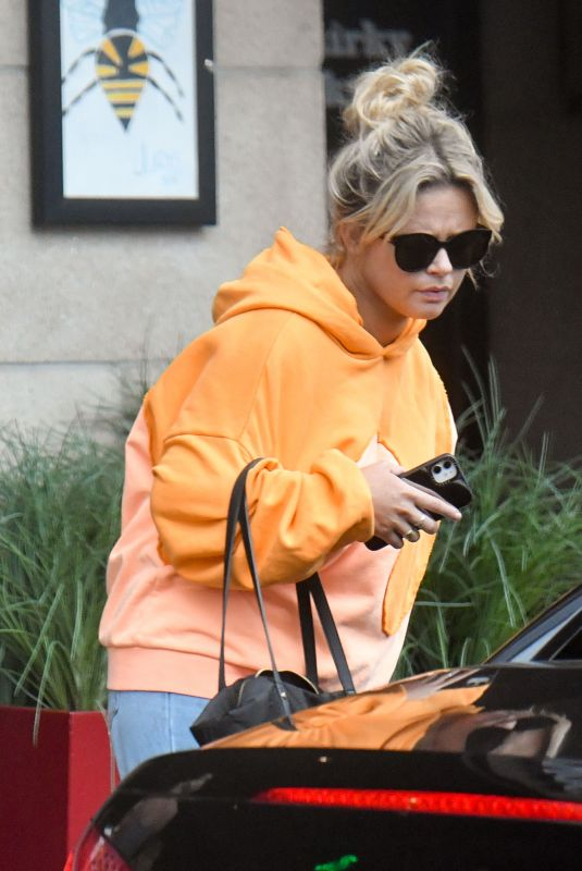EMILY ATACK Leaves Her Hotel in Manchester 08/15/2021