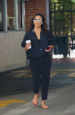 EVA LONGORIA Out for Coffee after Getting Her Nails Done in Beverly Hills 08/23/2021
