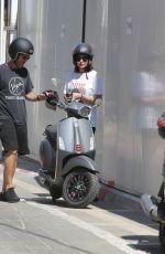 GAL GADOT at a Motor Scooter in Tel Aviv 08/26/2021