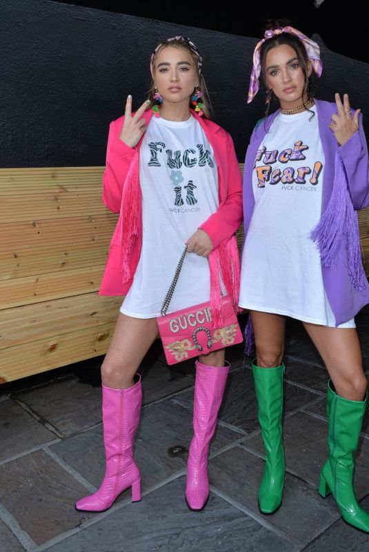 GEORGIA HARRISON and BELLA KEMPLEY at Nasty Gal FVCK Cancer Event in Essex 08/27/2021